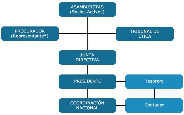 Organigrama del Colegio Nacional de Curadores Urbanos